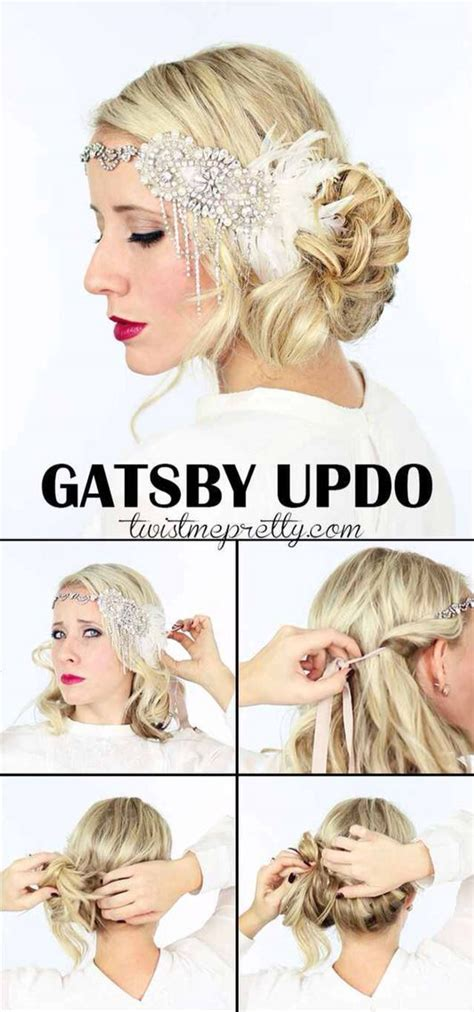 Easy 20s Hairstyles Hair by Gatsby Updo Swing Updo So