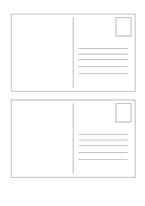 5x7 Postcard Mailing Template by 5x7 Postcard Template For Word Free Postcard Templates