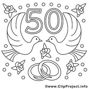 chanson pour 50 ans de mariage 50 ans image à télécharger mariage à colorier mariage coloriages dessin picture image