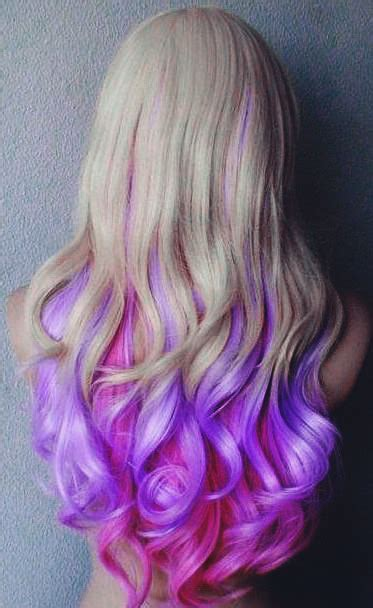 Purple Dip Dye On Blonde Hair Tumblr
