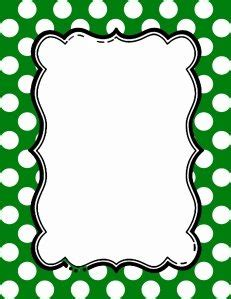polka dot border templates   colors
