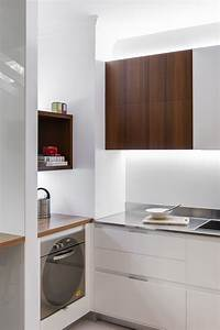 small contemporary kitchen makes room for home office and With small office kitchen design ideas
