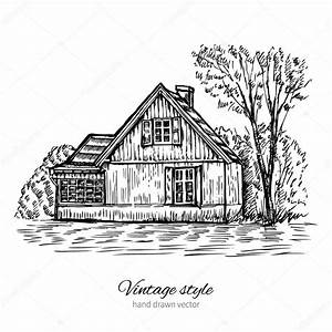 isba image vectorielle alexbannykh 42639627 of dessin de With dessin de maison en bois