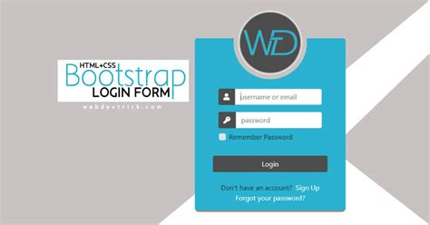 free bootstrap login form source code web dev trick