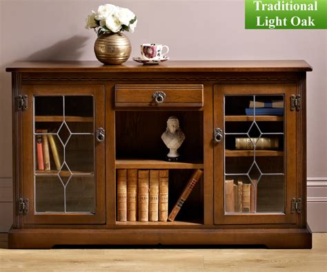 Low Bookcase With Doors by Charm Classic 2793 Low Bookcase With Glass Doors