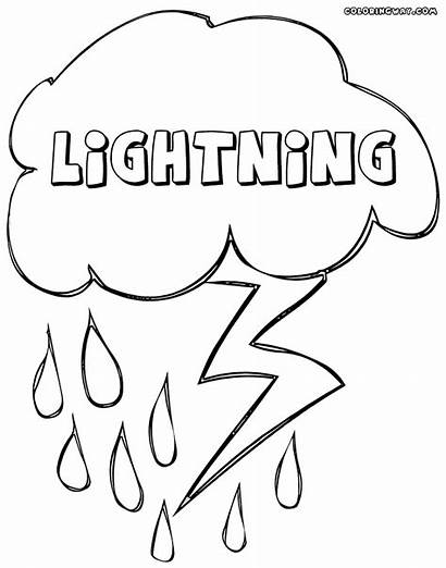 Lightning Coloring Pages Storm Colorings