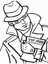 Coloring Spy Detective Printable Mycoloring Boys Recommended sketch template