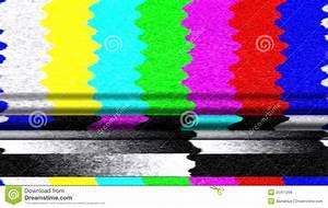 TV Color Bars Malfunction stock photo. Image of media ...
