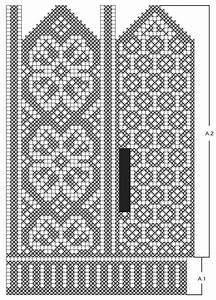 Knitted Drops Mittens With Nordic Pattern In  U201dkarisma U201d