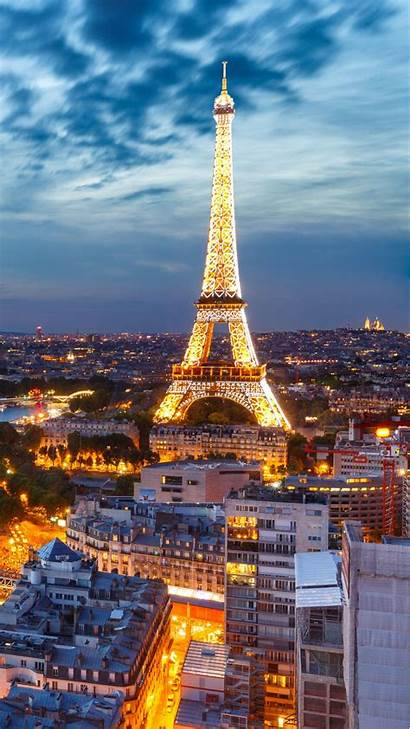 Paris Wallpapers Night Mobile Vertical France Midnight