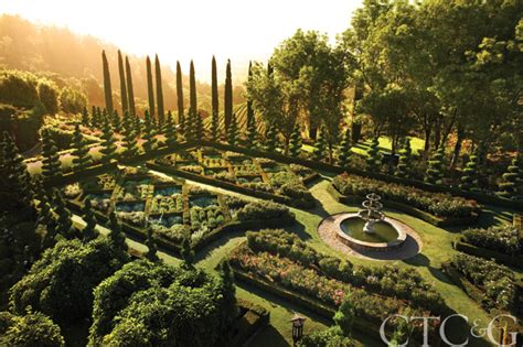 Napa Valley Garden And Vineyard by A California Vineyard S Formal Garden Blends