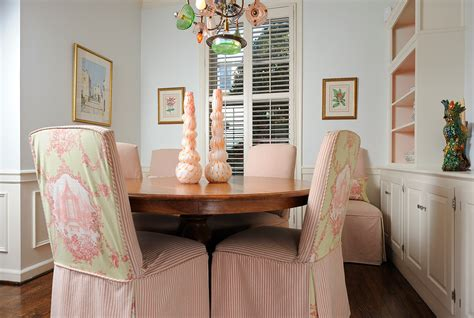 bright parson chairs in dining room eclectic with chair