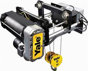 5 Ton Yale Global King Electric Wire Rope Hoist  U0026 Trolley For Monorail 25ft Lift