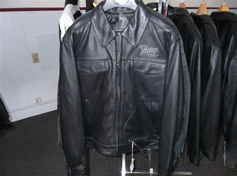 Victory Leather Western Style Motorcycle Jacket Mens Small