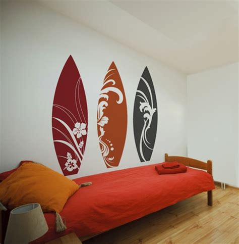 surfboard wall decals stickers