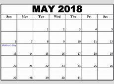 May 2018 Calendar Canada with Holidays