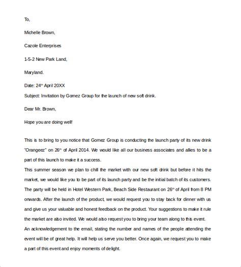 invitation letter 10 business invitation letter templates pdf word sle templates