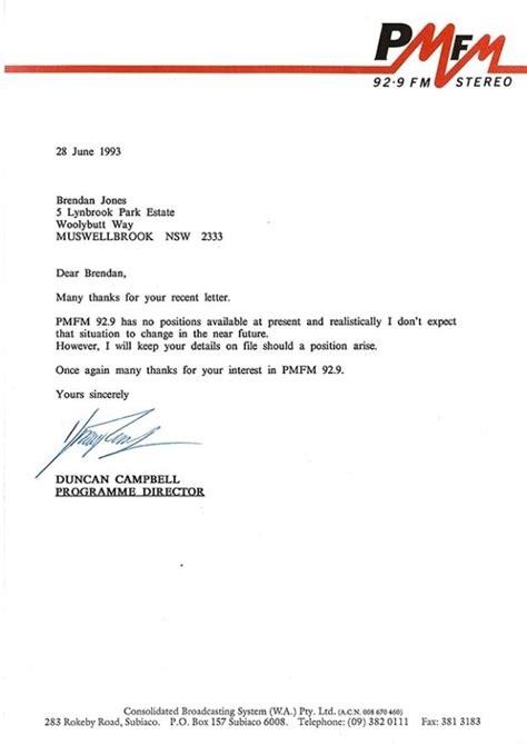 letter  unsuccessful job application pre