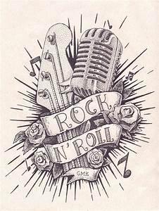 Rock N Roll Deko : rock n roll tattoo em pontilhismo on behance id e tatouage pinterest id e tatouage ~ Sanjose-hotels-ca.com Haus und Dekorationen