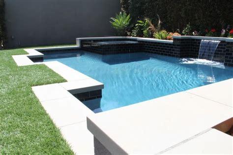 modern pool coping same la pool build light gray sand finish modern style precast coping from bellecrete pools