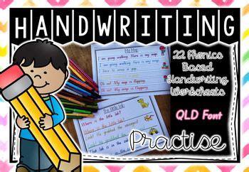 handwriting practise qld foundation level  images