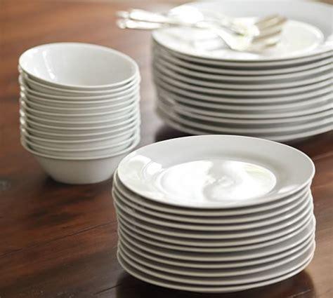 caterers dinner plate set   pottery barn