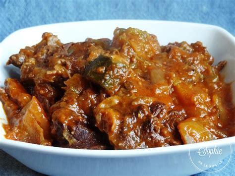 cuisiner truite ragoût de boeuf aux gombos la tendresse en cuisine