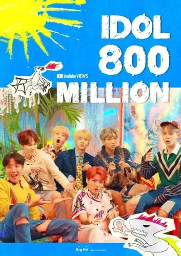 'Idol' becomes 5th BTS music video to hit 800 mln YouTube ...