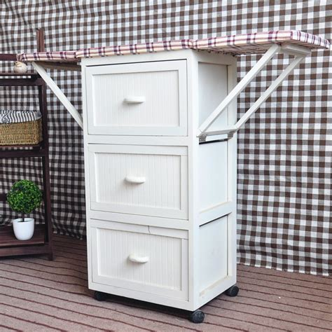portable ironing board cabinet multi drawers wooden ironing board with cabinet ironing