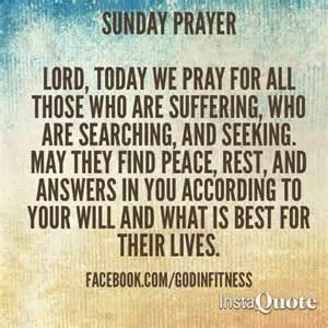 Sunday Prayer Quotes