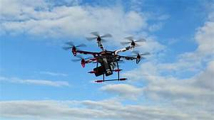 Drone Hexacopter With Camera In Flight Stock Footage Video ...