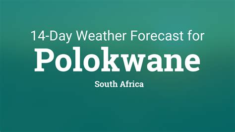 polokwane south africa day weather forecast