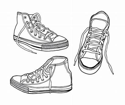 Sneakers Illustrated Vector Rough Drawn Hand Ai
