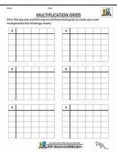 Blank Multiplication Table Worksheet Printable - free ...