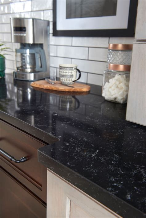 black quartz countertop black quartz countertops 9 stunning design ideas for your