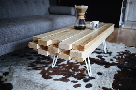 You can put your coffee brewer and water heater on the table. DIY Wooden Coffee Table - A Beautiful Mess