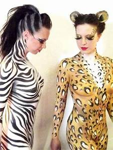 Zebra and Leopard party animals body paint by ange08 ...