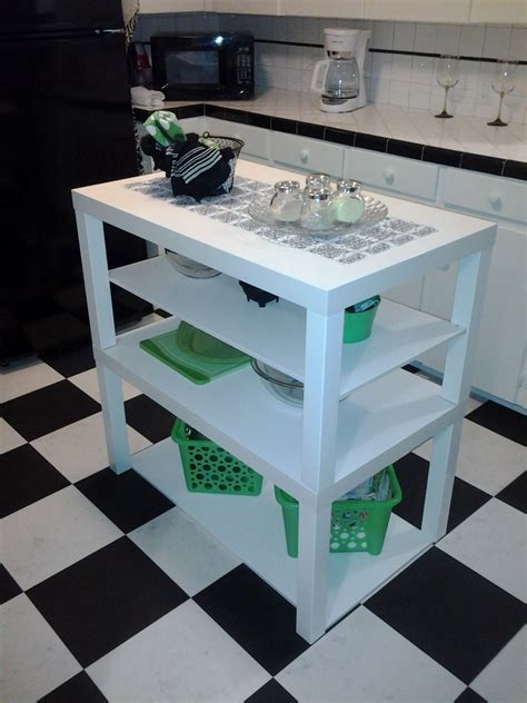 kitchen island ikea hack ikea hack ikea lack coffee tables turned cute little kitchen island by a diy beginner diy