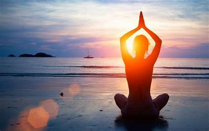 Yoga Background Desktop Wallpapers Zen Meditation Beach