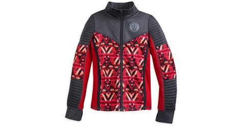 disney black panther track jacket  girls black