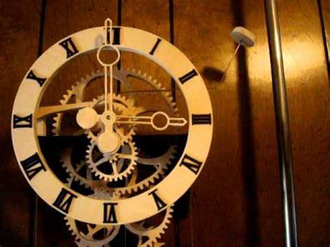 wood gear clock simplicity designed  clayton boyer