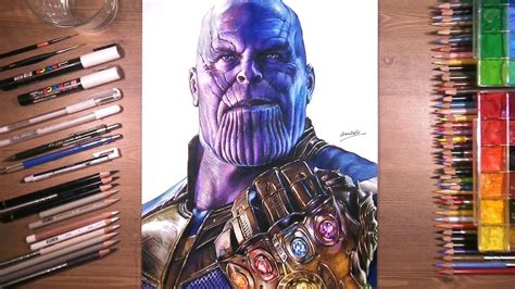 drawing  thanos  infinity gauntlet youtube