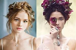 Couronne Fleur Cheveux Mariage : coiffure mariage avec couronne ~ Melissatoandfro.com Idées de Décoration