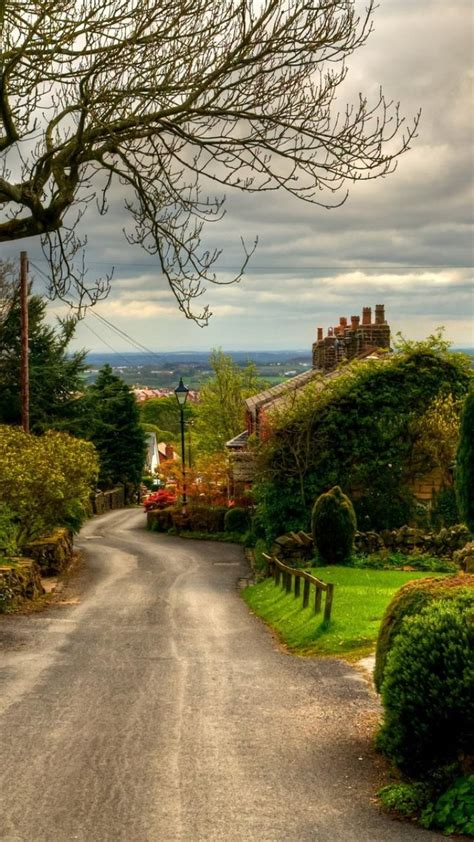england architecture autumn clouds houses wallpaper