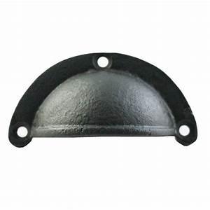 Poignée Coquille Noire : coquille coupelle cuvette meuble noir antique fonte ~ Teatrodelosmanantiales.com Idées de Décoration