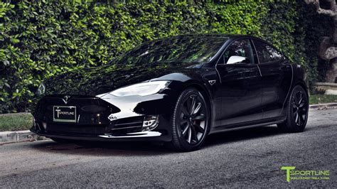 T Sportline Tesla Model S Blacked Out Chrome Plus 19 Matte