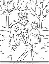 Joseph Coloring Saint Pages Prison St Saints Catholic Printable Carpenter Jesus Sheet Easy Numberjacks Child Christian Angel Children Kid Thecatholickid sketch template