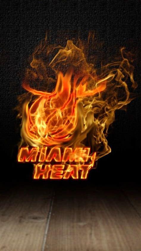 Burning Miami Heat Logo Iphone 5 5s 5c Hd Wallpaper And