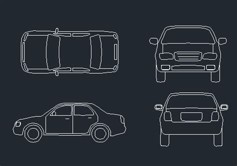 box auto dwg car cad blocks