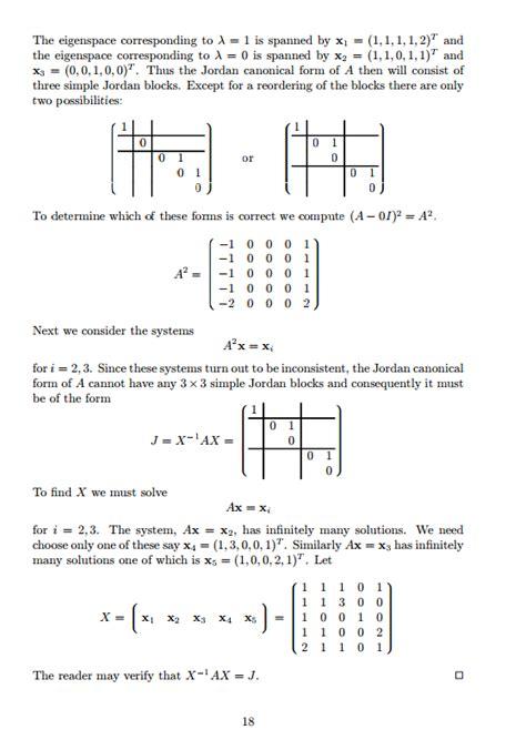 find jordan form representation of the following matrices linear algebra jordan canonical form deployment